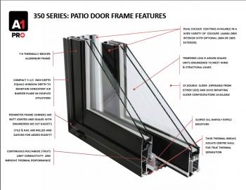 350 Aluminum Patio Doors