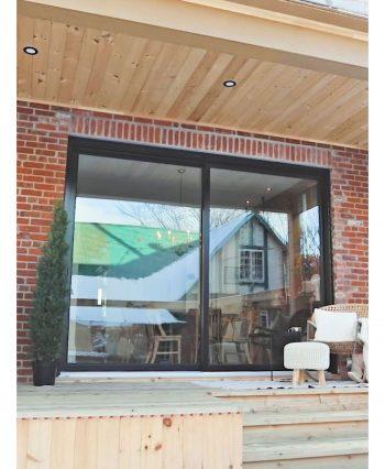 Deck with access to inside through loft aluminum patio door