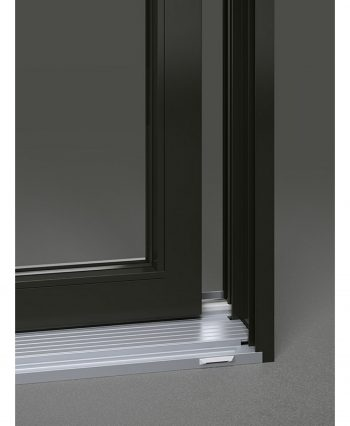A1 Windows Urbania aluminum patio door close up