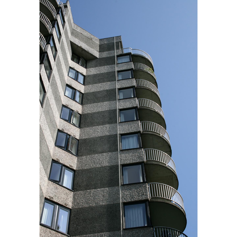 A1 windows 350 series windows on apartment building