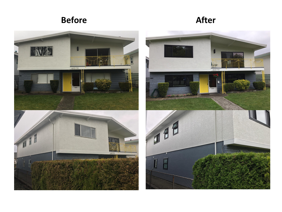 Before and after of A1 windows installation